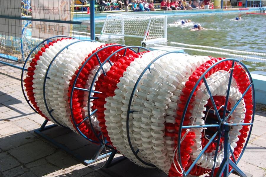 Pályaelválasztó kötél 25m-es medencéhez (150 mm-es)